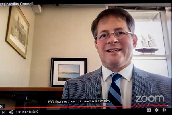Mike Piehler on Zoom meeting